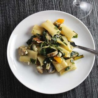 Rigatoni with Chicken Sausage and Greens