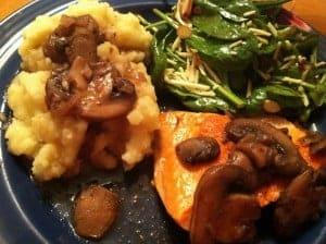Salmon with Mushrooms