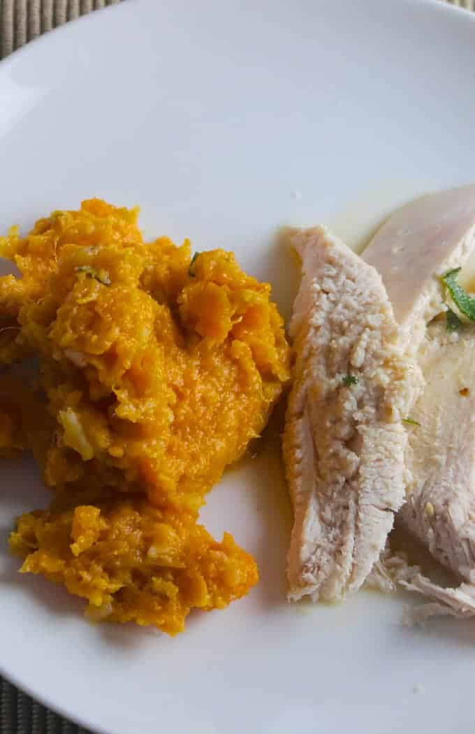 Sweet Potatoes with Cumin Sage Butter is a tasty side for turkey or pork!