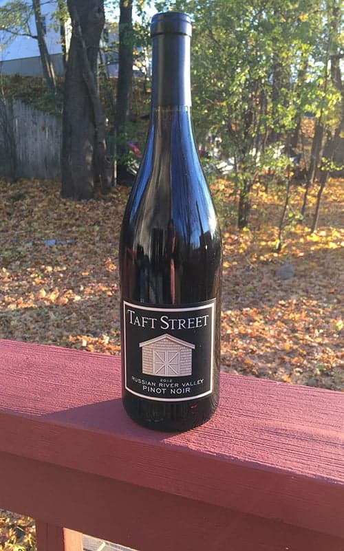 Taft Street Winery has a nice Pinot Noir for Thanksgiving