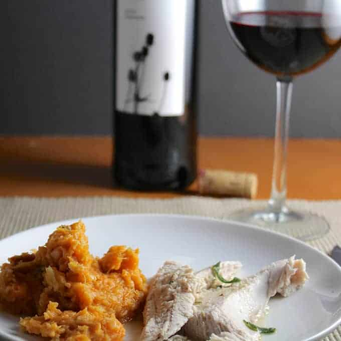 Tempranillo paired with roasted turkey and sweet potatoes