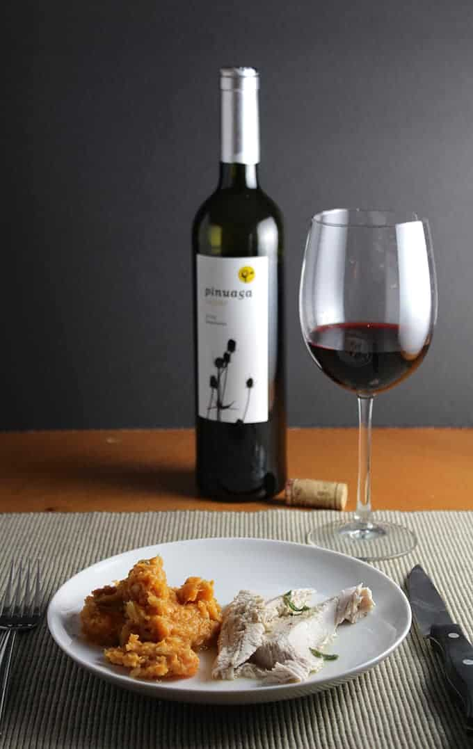 Tempranillo paired with turkey and sweet potatoes for #winePW 6.