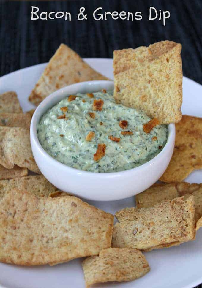 Bacon and Greens Dip Recipe from Cooking Chat.