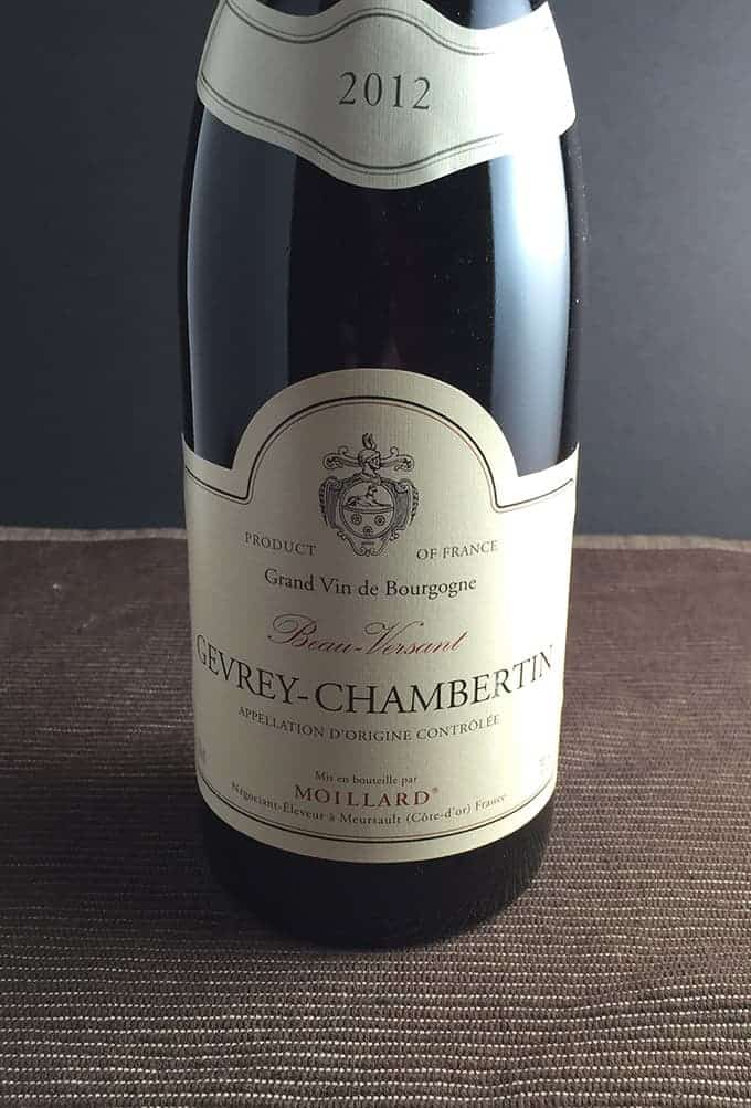 2012 Moillard Gevrey-Chambertin Beau-Versant Burgundy, a Cooking Chat Wine Pick for Holiday Giving