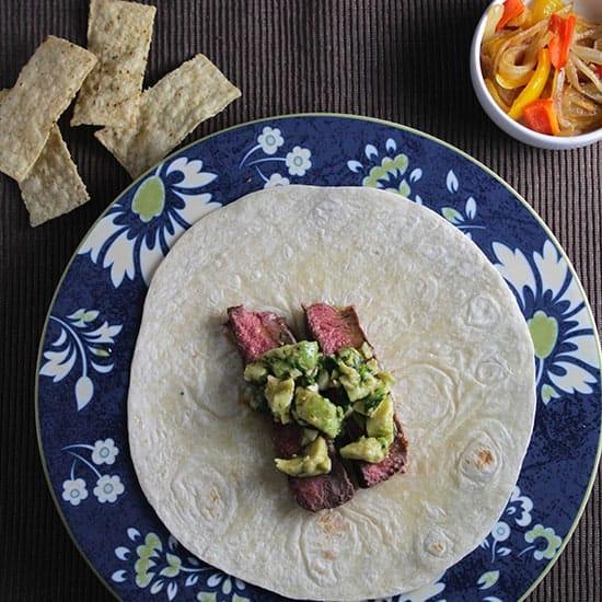 Avocado Steak Tacos for #SundaySupper