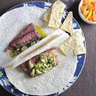Awesome Avocado Steak Tacos #SundaySupper