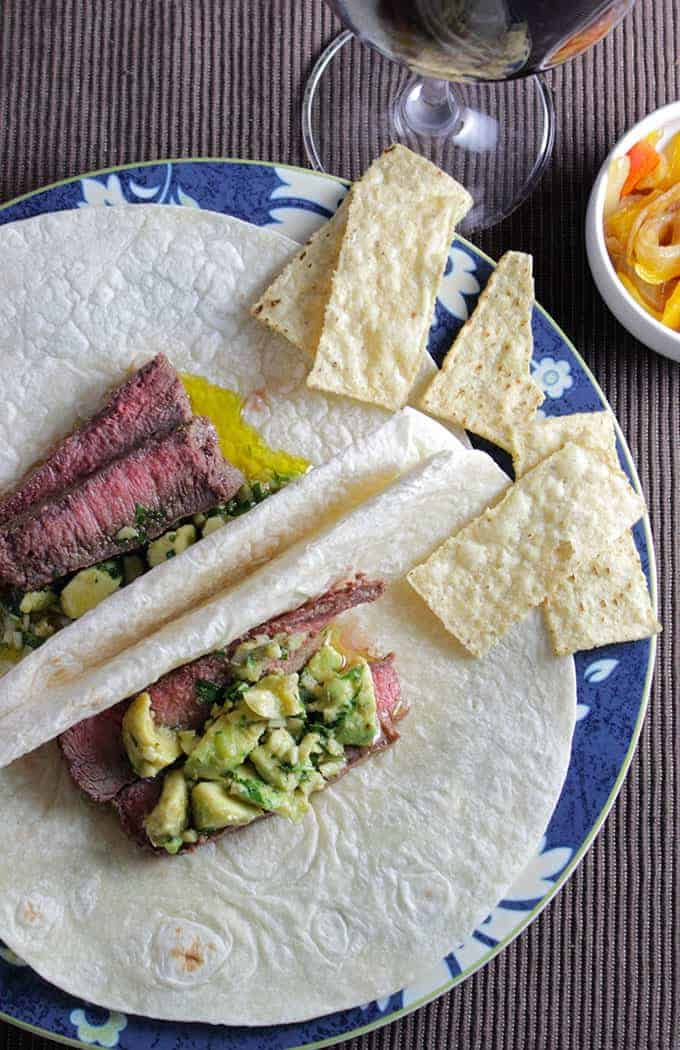 Awesome Avocado Sauce tops off steak tacos very nicely!