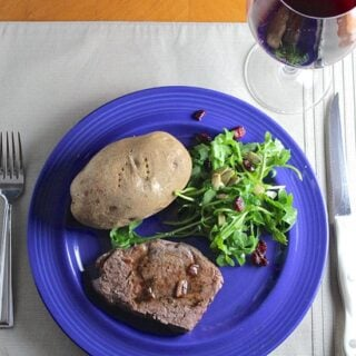 Filet Mignon with Balsamic Pan Sauce #WeekdaySupper