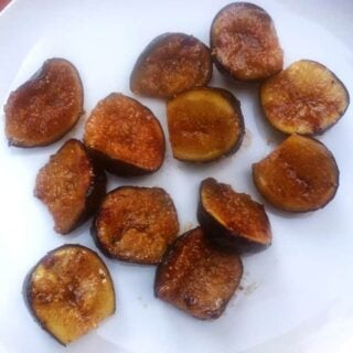 grilled figs to be served with mascarpone and honey