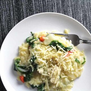 Orzo with Chicken and Spinach #WeekdaySupper