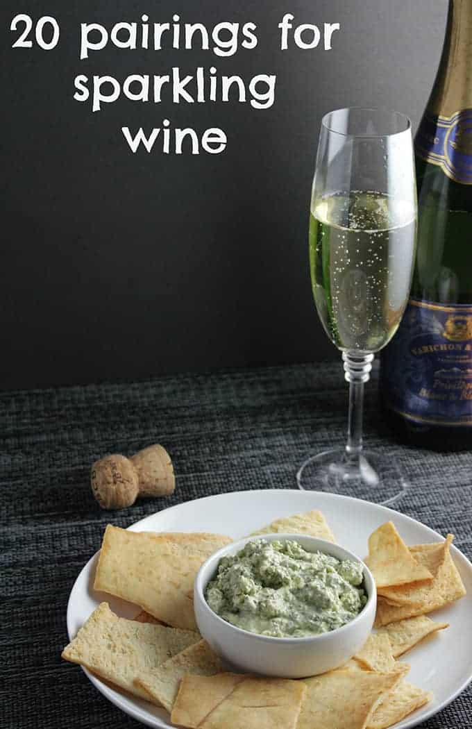 20 Pairings for Sparkling #Wine, roundup of ideas from Cooking Chat to get you ready for New Year's Eve or any other occasion .