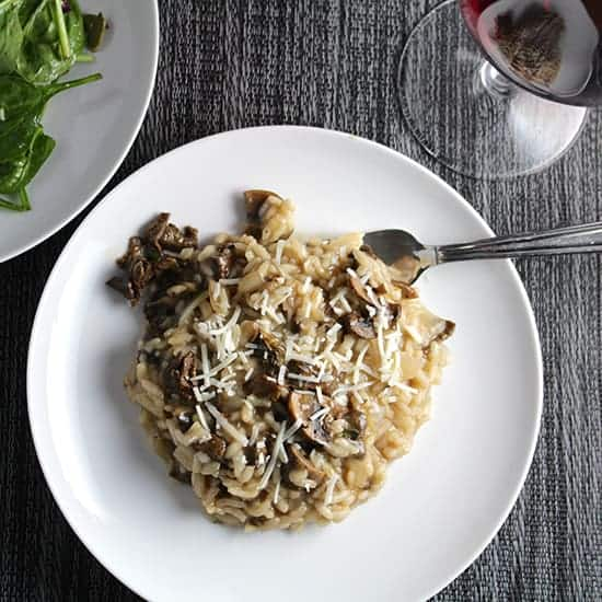 Porcini Mushroom Risotto recipe and wine pairing.