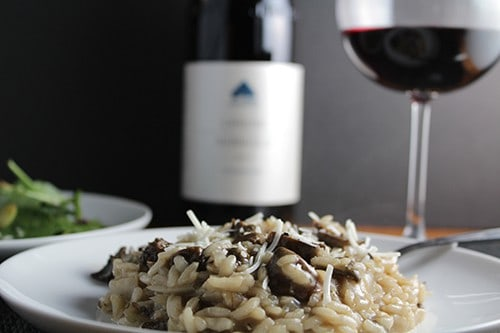 Porcini Mushroom Risotto paired with a Nebbiolo. Cooking Chat #recipe.