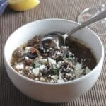 Greek Lamb Stew in a bowl
