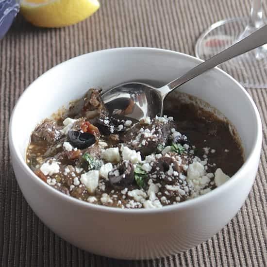Greek Lamb Stew in a bowl
