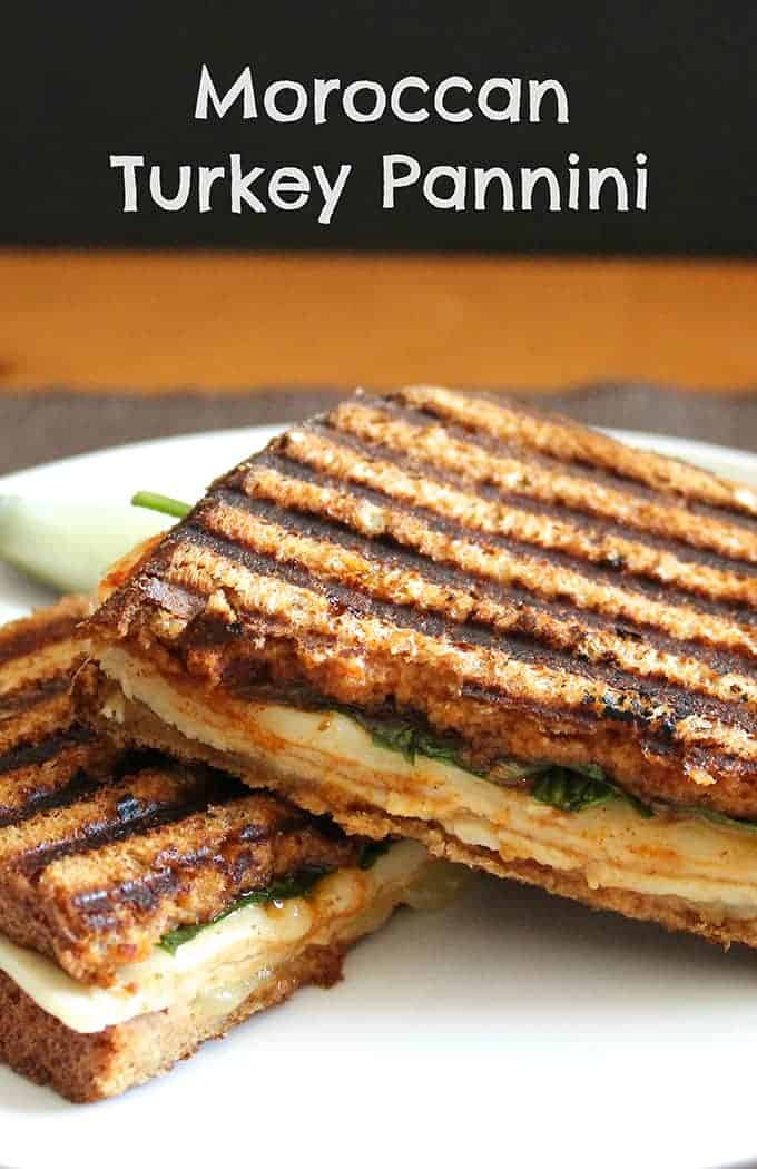 Moroccan Turkey Pannini, a Cooking Chat #recipe.