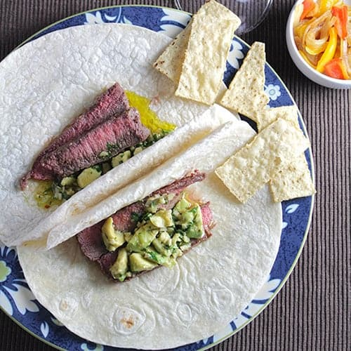 Awesome Avocado Steak Tacos. A Cooking Chat Tastiest Healthy Recipes pick.