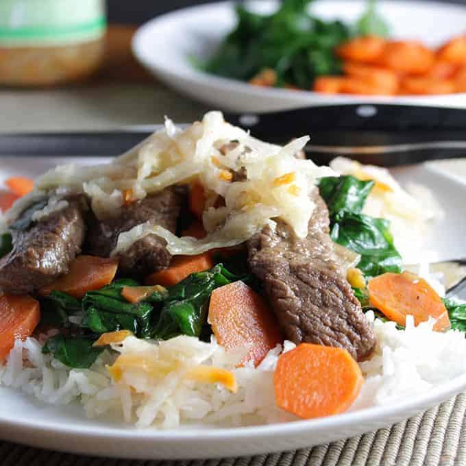 Bee Bim Bop Korean beef recipe