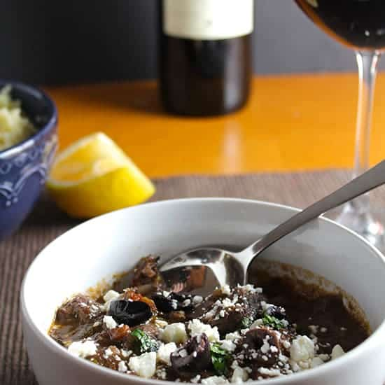 Greek Lamb Stew and Wine Pairing.