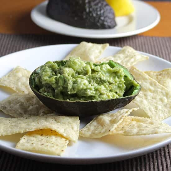 Simple Guacamole Recipe, feature in Cooking Chat Super Easy Appetizers roundup.