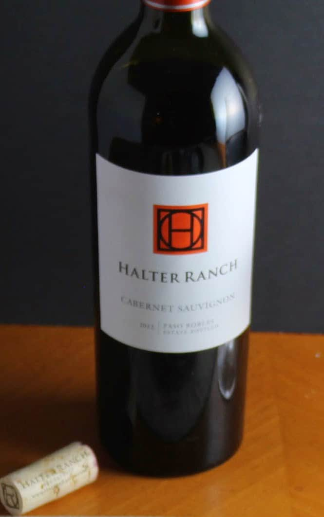 Paso Robles Cabernet Sauvignon from Halter Ranch, paired with Cooking Chat Spoon Roast recipe.