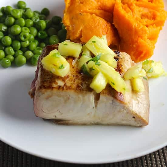 mahi mahi with pineapple salsa, 1 of 6 tasty fish recipes from Cooking Chat.