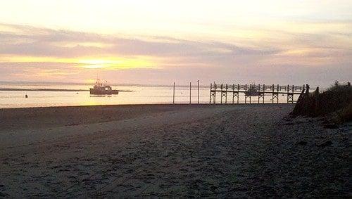 sunrise on Cape Cod.
