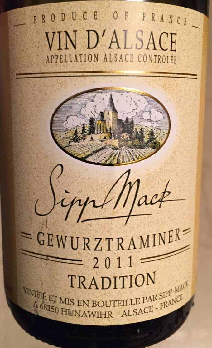 Sipp Mack Gewürztraminer makes a good pairing for carrot ginger soup or Indian food.