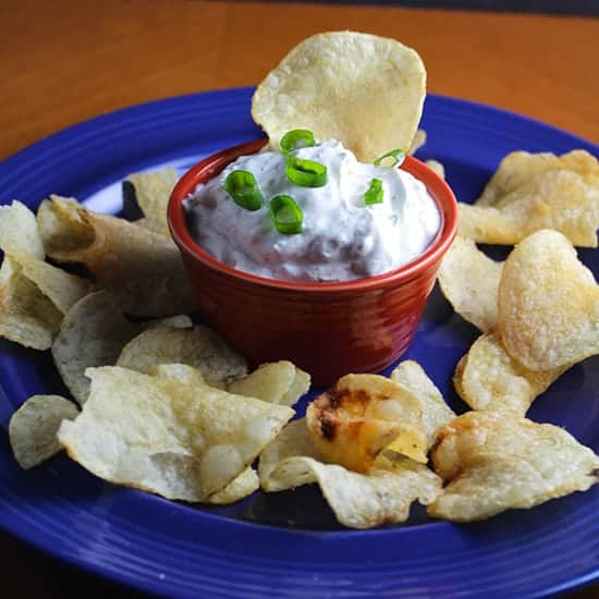 Spicy Green Onion Dip featured in Super Easy Appetizers post by Cooking Chat.
