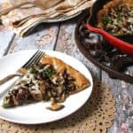 Skillet Pie with Mushrooms and Caramelized Onions. Whole Food Real Families guest recipe on Cooking Chat