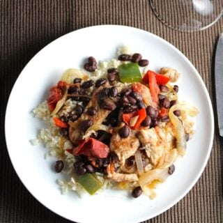 Skillet Black Beans and Pork #SundaySupper