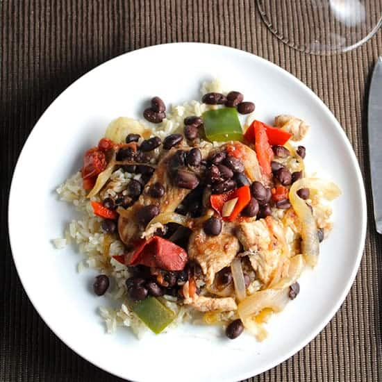 Skillet Black Beans and Pork recipe for #SundaySupper.