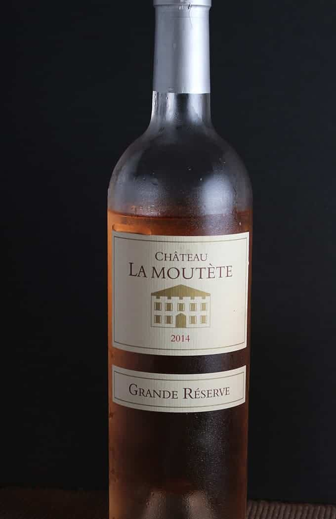 2014 Chateau La Moutete is a high quality rose wine from Provence. Pairs well with shrimp.