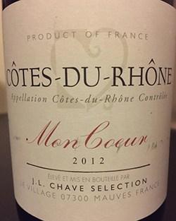 2012 Chave Mon Coeur Cotes du Rhone