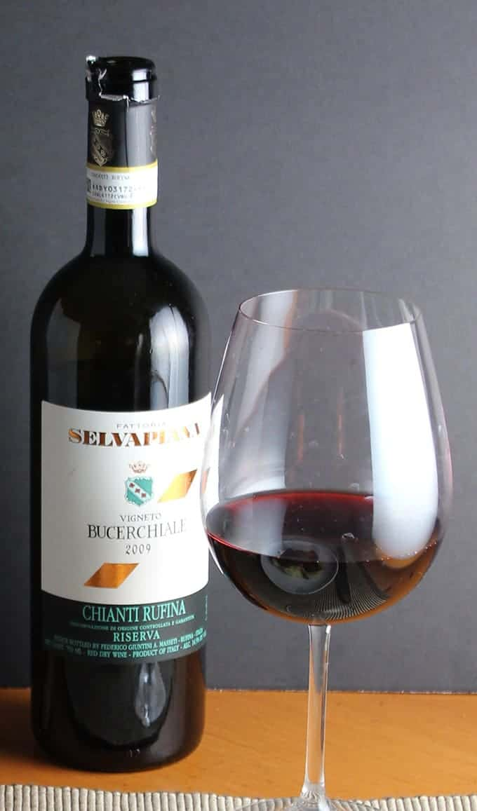 2009 Selvapiana Bucerchiale Chianti Rufina Riserva is a great expression of Chianti, and pairs nicely with Tuscan Beef Stew.