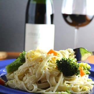 Fettuccine Primavera Avec Mon Coeur #winePW