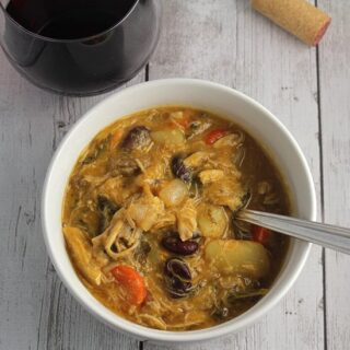 Hearty Chicken Stew with Red Wine Pairing Options