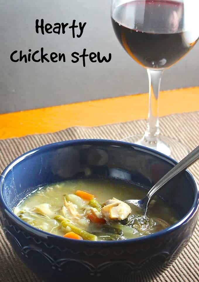 Hearty Chicken Stew recipe from Cooking Chat
