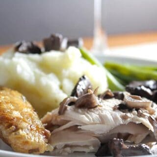 Roast Chicken with Portobello Mushrooms