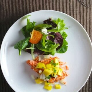 Salmon with Mango Salsa. Cooking Chat #recipe