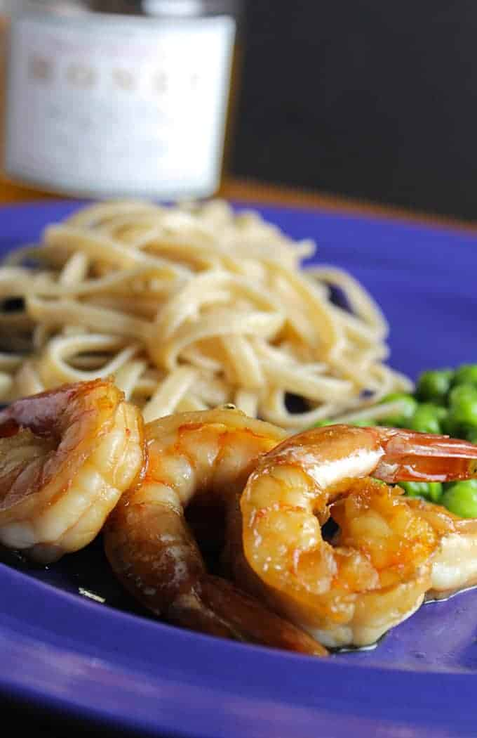 plate of simple sautéed shrimp