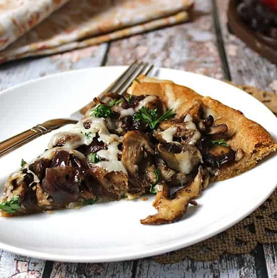 Skillet Pie with Mushrooms and Caramelized Onions. Whole Food Real Families recipe