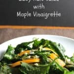 Baby Kale Salad with Maple Vinaigrette recipe from Cooking Chat.
