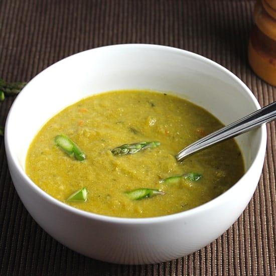 Lightened Cream of Asparagus Soup