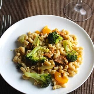 Pasta with Roasted Broccoli and Sausage