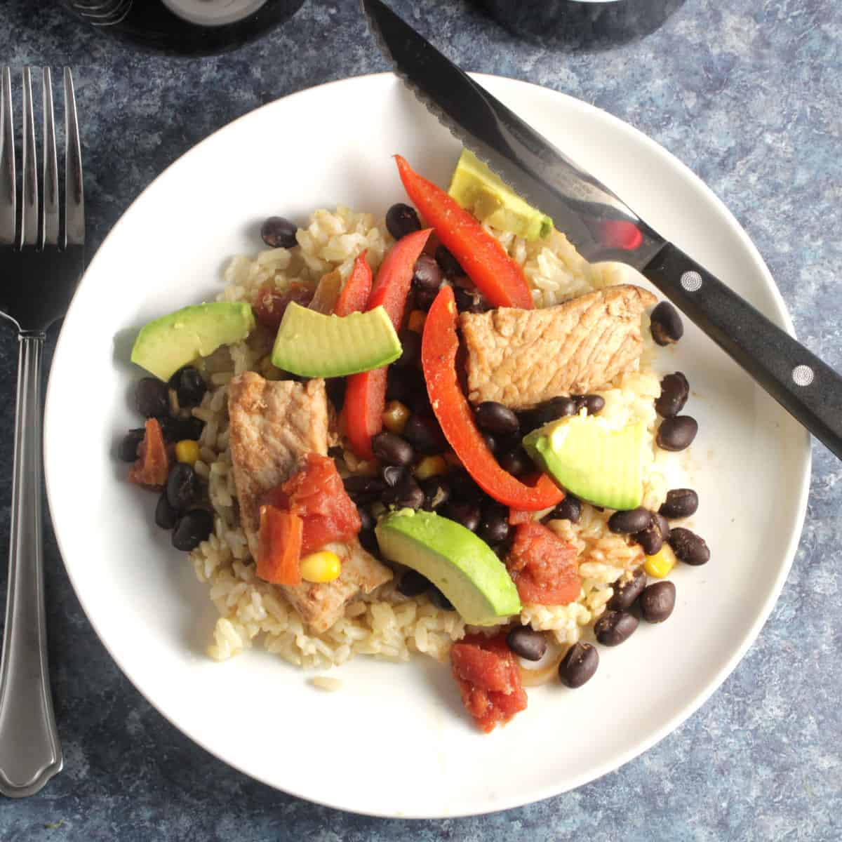 skillet pork with black beans
