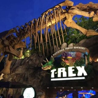 T Rex Cafe in Downtown Disney, from post about allergy-friendly Disney World dining