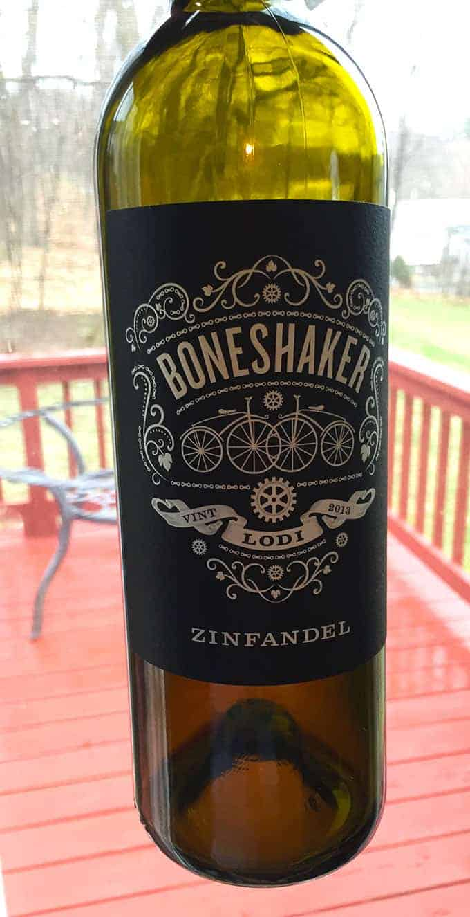 Boneshaker Zinfandel from Lodi. Good value, pairs nicely with grilled meat. #wine
