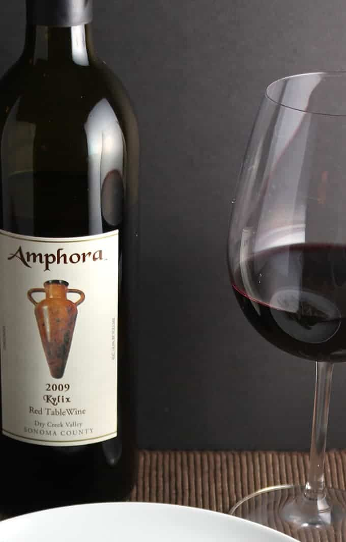 Amphora Kylix red table wine from Dry Creek in Sonoma County. Great bottle for about $20!