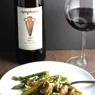 Red Wine with Asparagus and Mushrooms #winePW